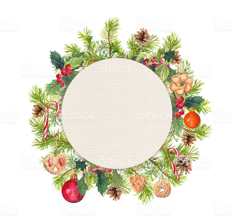 Christmas Border Circle Clipart Christmas Ornament Candy Cane Christmas Tree