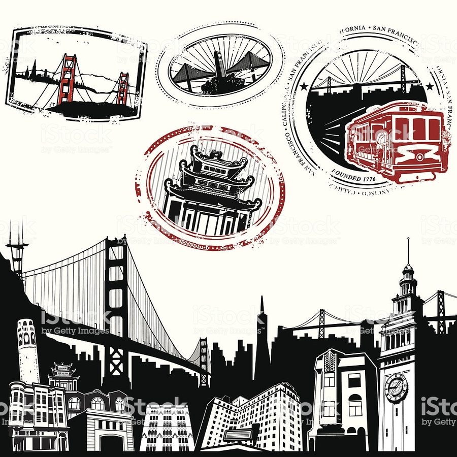 Download Golden Gate Bridge Vector Clipart San Diagram Of The Francisco Ferry Building Franciscooakland