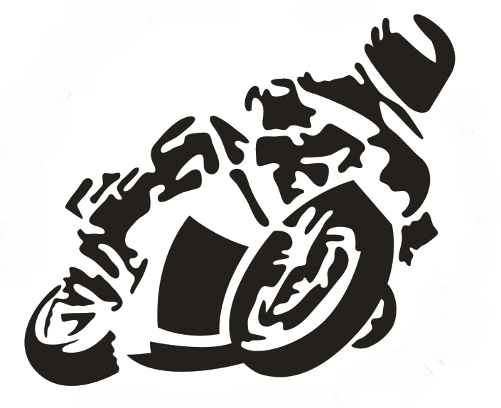 Font Racing Clipart Motorcycle Sticker Car Transparent