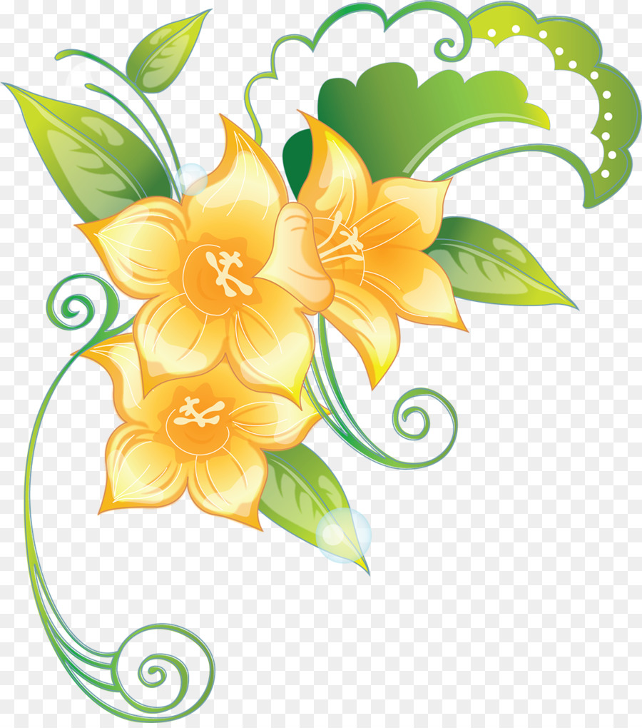 Floral Pattern Background Clipart Flower Yellow Plant