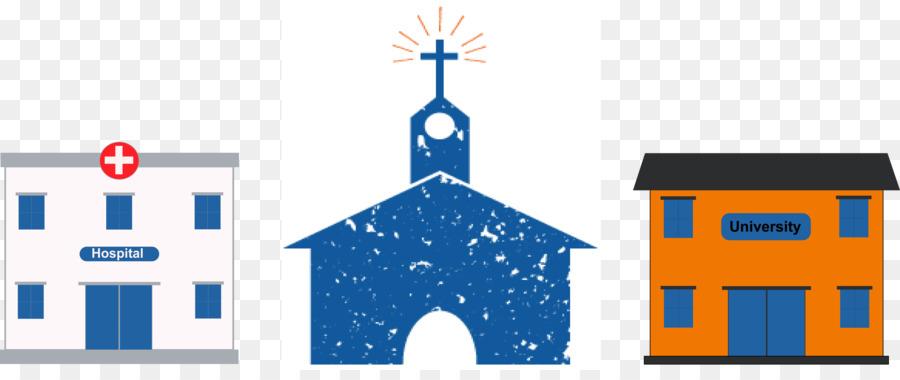 Church Cartoon clipart - Church, Illustration, Blue