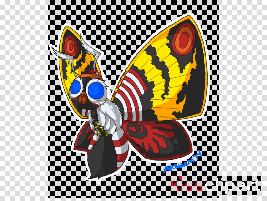 Godzilla clipart Butterfly Godzilla Mothra