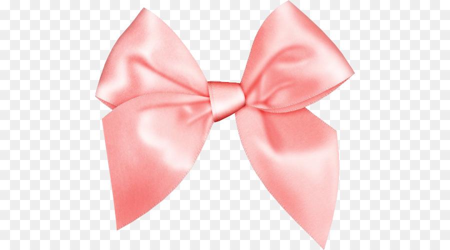 Peach ribbed bow