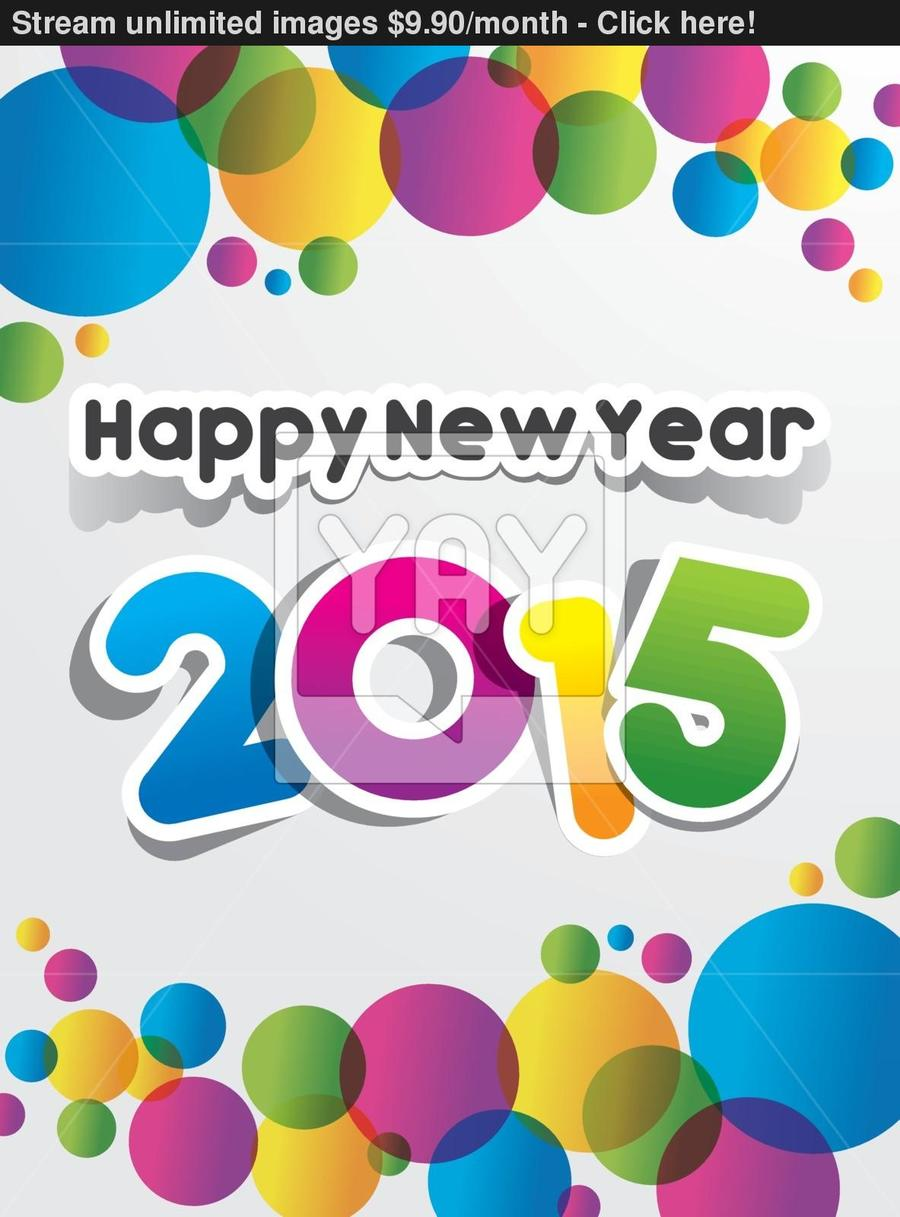 Download Greeting Card For New Year 2015 Clipart Greeting Note