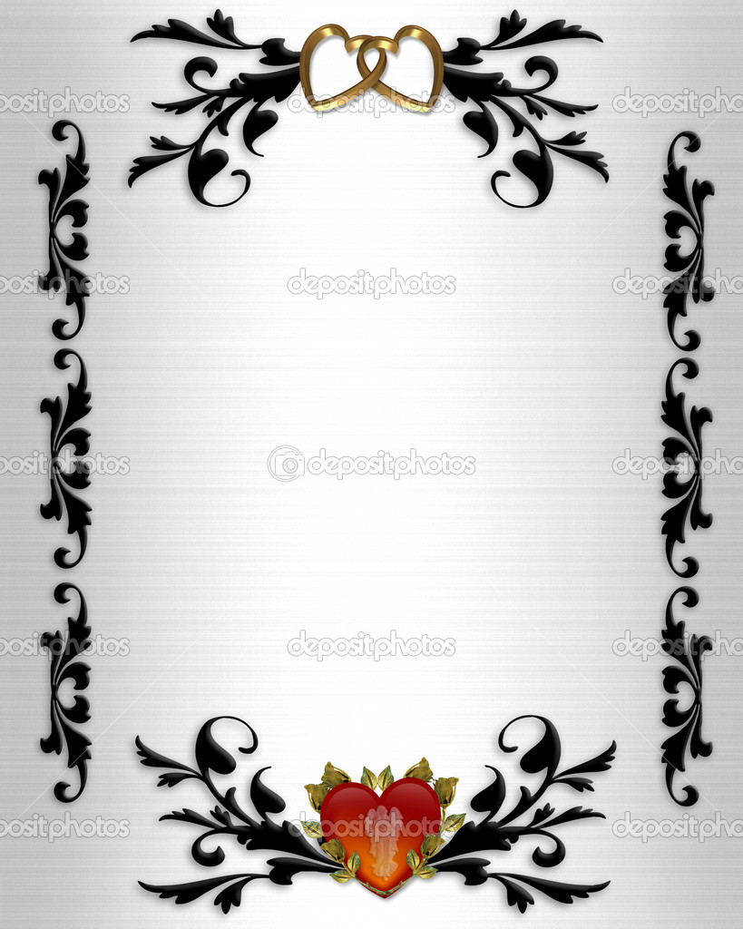 Wedding Invitation Borders Clip Art Free All About Clipart