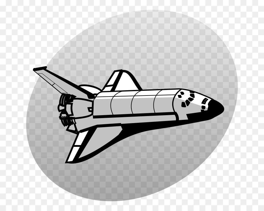 Space Shuttle Transportation Free Black White Clipart, HD Png Download ,  Transparent Png Image - PNGitem