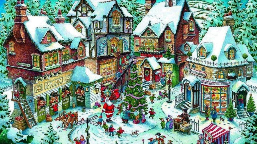 ravensburger santas christmas wonderland 1000 piece christmas puzzle clipart jigsaw puzzles santa claus santas christmas - Ravensburger Christmas Puzzles