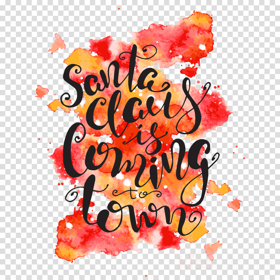 Lettering clipart Santa Claus Calligraphy Lettering