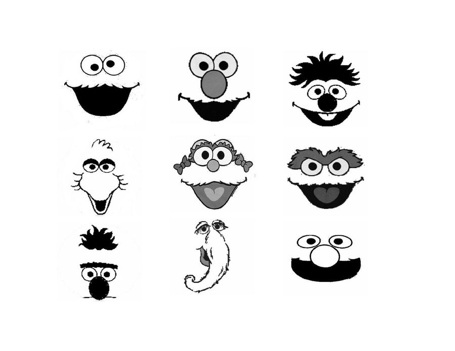 elmo head font smile line icon graphics illustration product