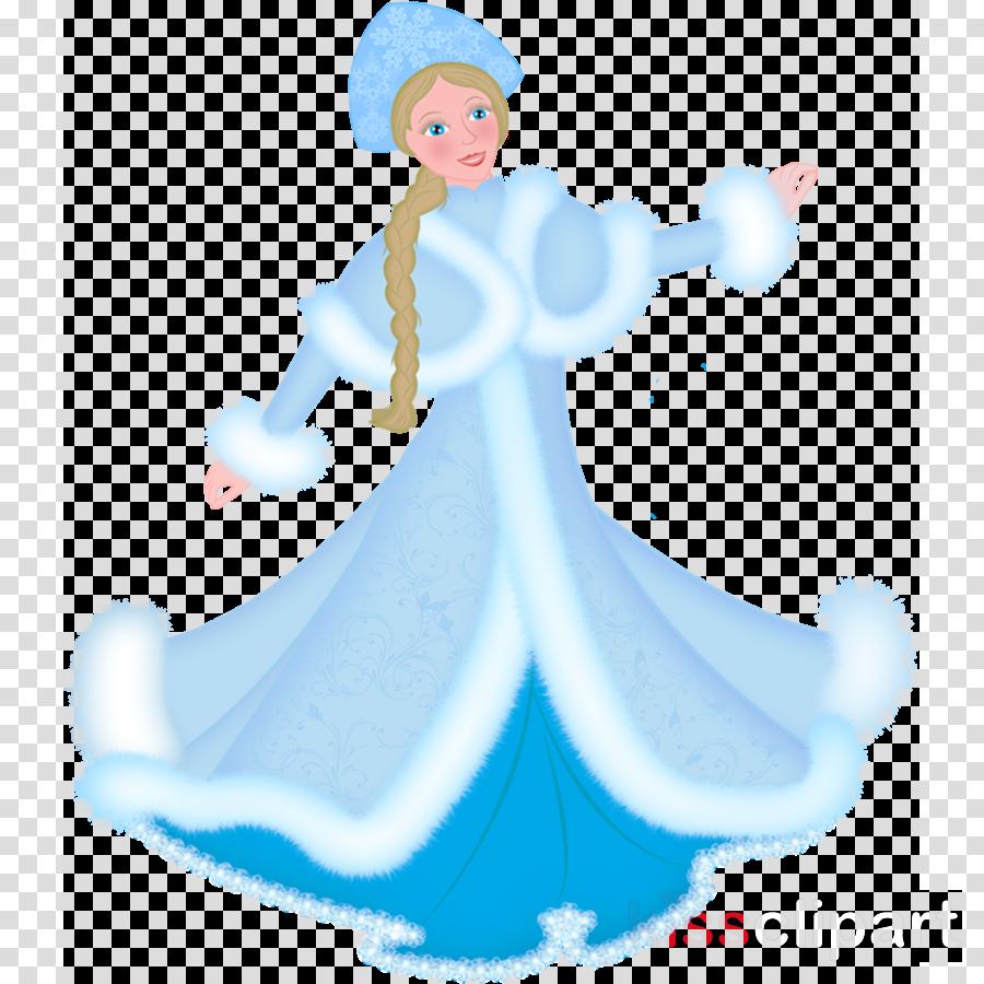 cartoon clipart Snegurochka Ded Moroz