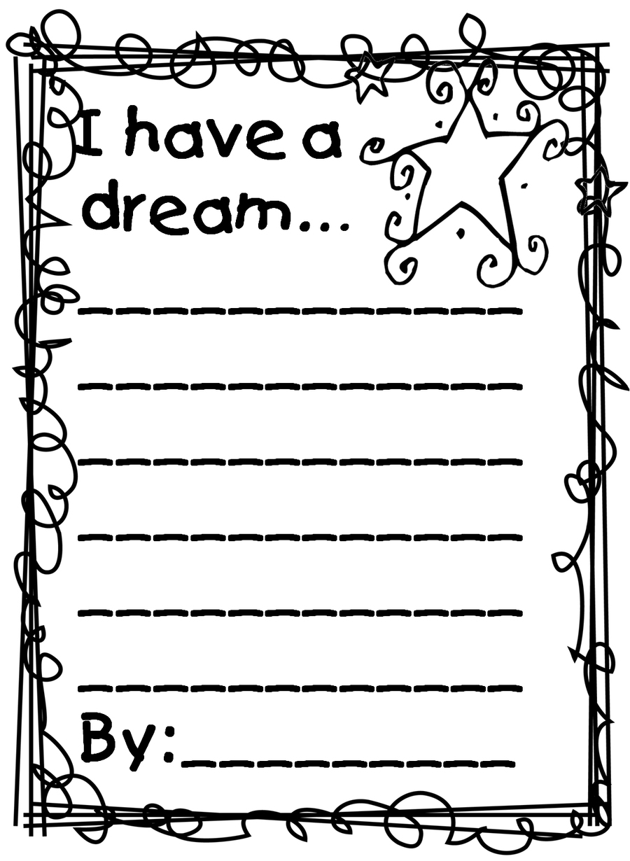 Download have a dream coloring pages clipart I Have a Dream Coloring ...