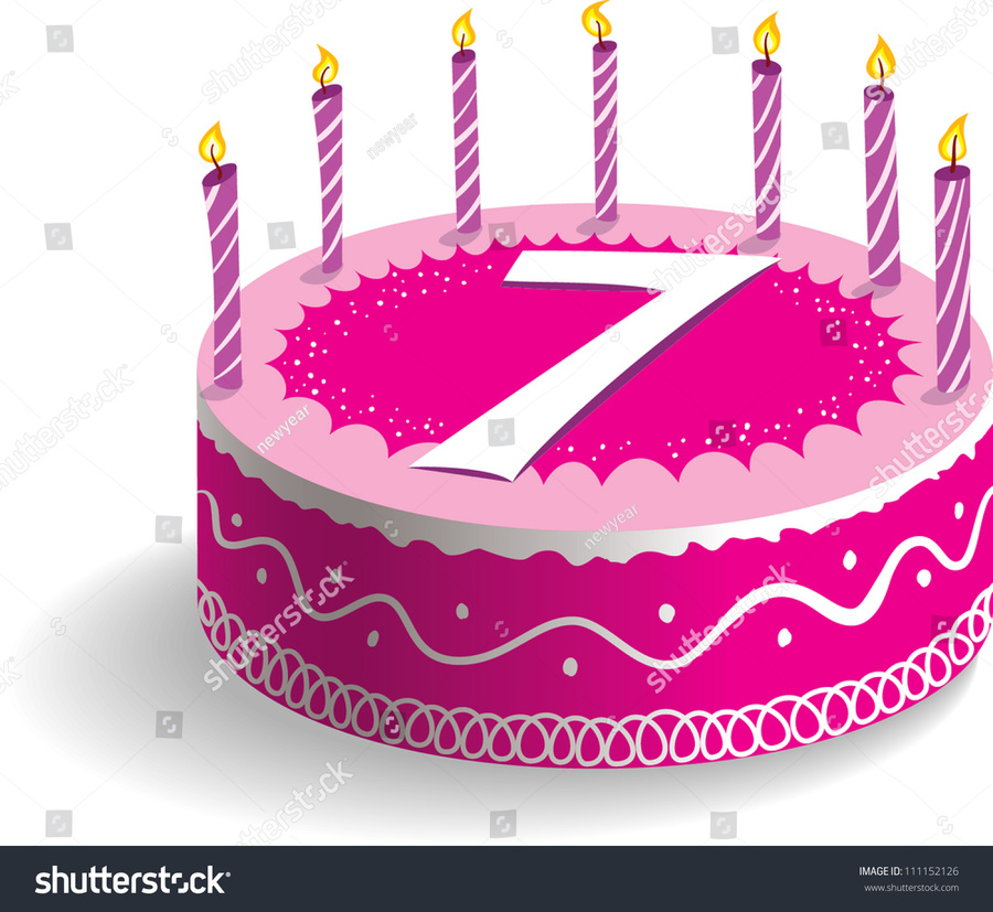 7th Birthday Cake Clipart Clip Art