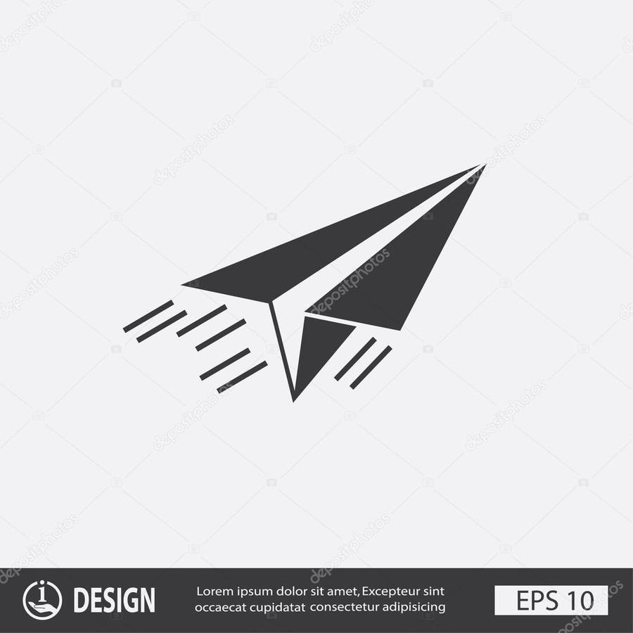 Download Piktogramm Papierflieger Clipart Airplane Paper Plane Wing Diagram