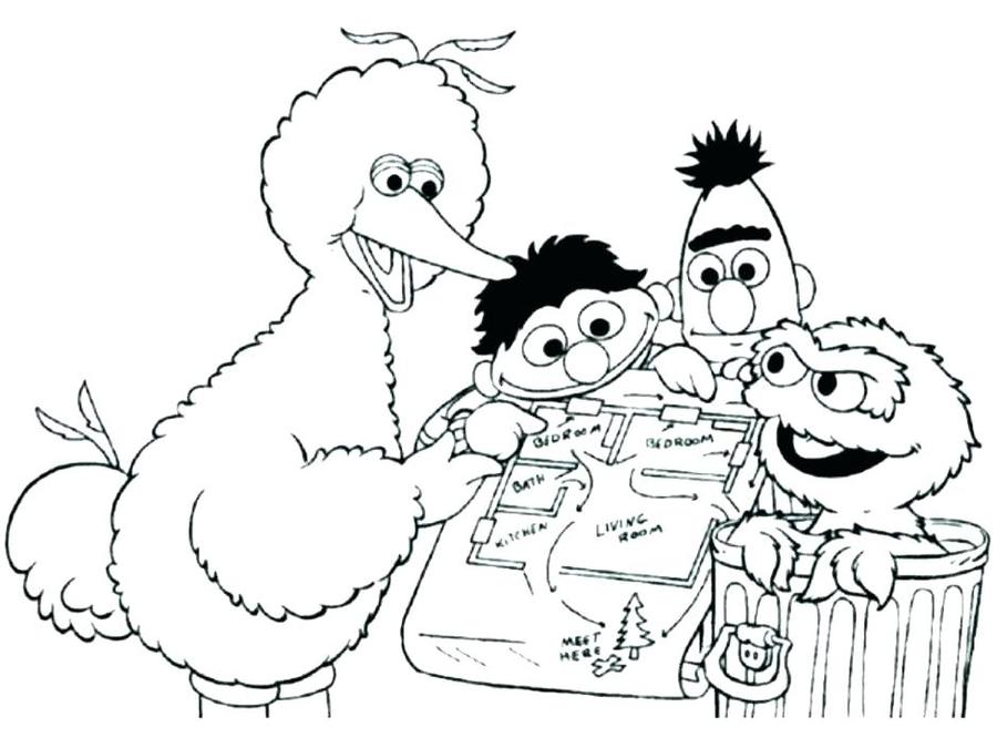 Download Oscar The Grouch Coloring Pages Clipart Elmo Book