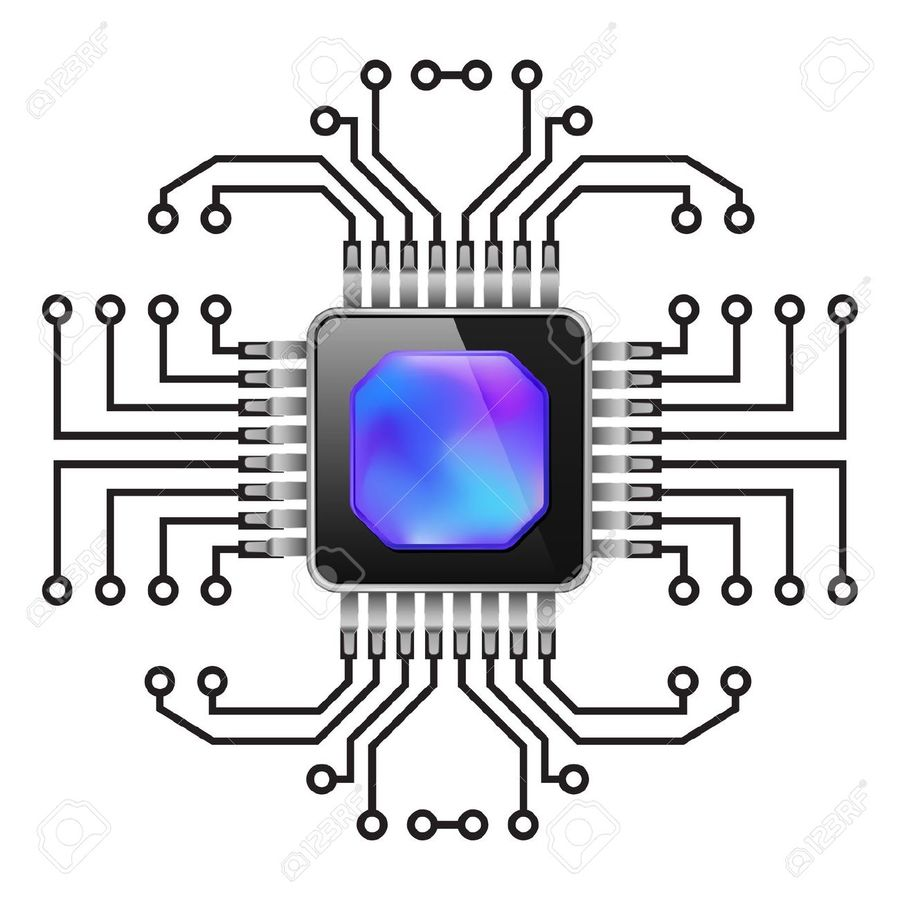 Download Chip Vector Clipart Integrated Circuits Chips Clip Art Circuit Diagram