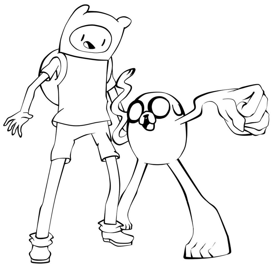 Clipart resolution 1024*984 - finn y jake para colorear clipart Jake ...