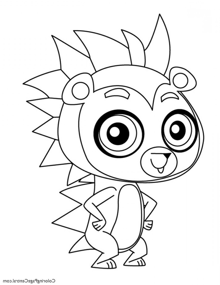 Download Russel Littlest Pet Shop Coloring Pages Clipart Book Colouring Dog Face