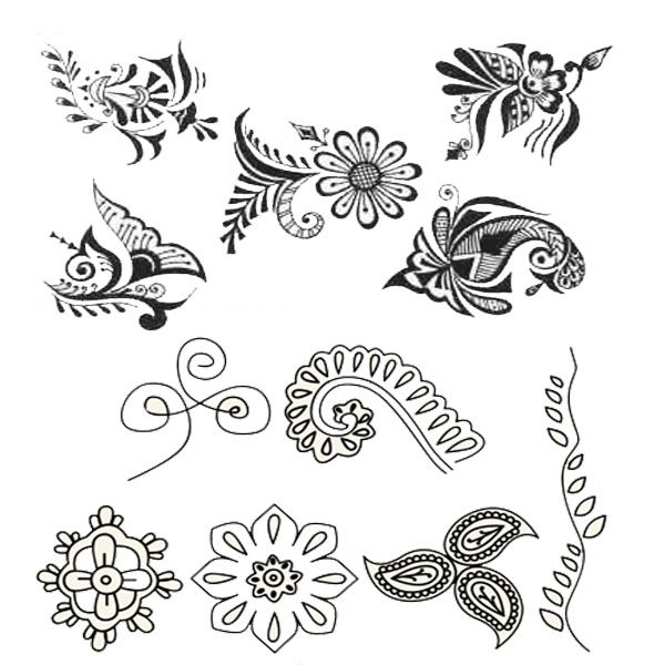 Clipart Resolution 600 600 Henna Designs Easy To Draw Clipart