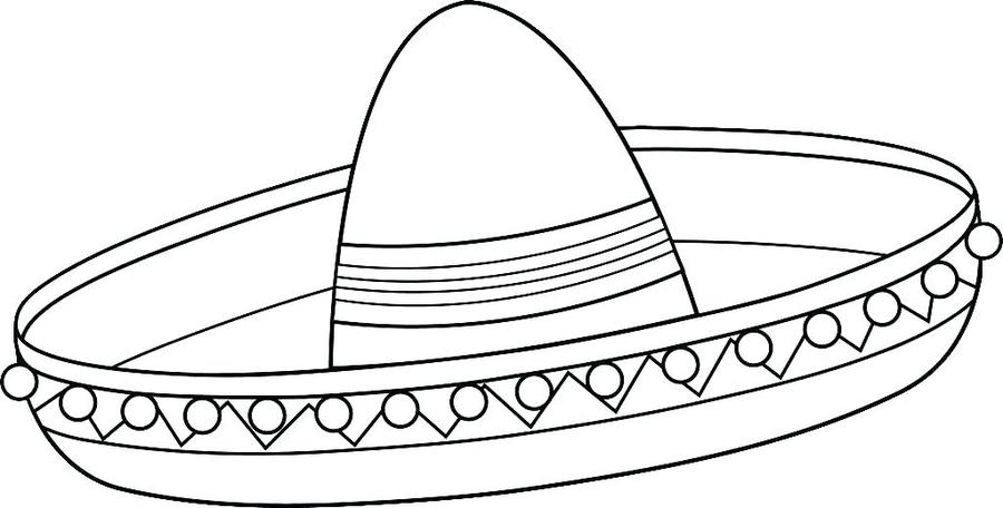 Download sombrero hat coloring pages clipart Sombrero Coloring book ...