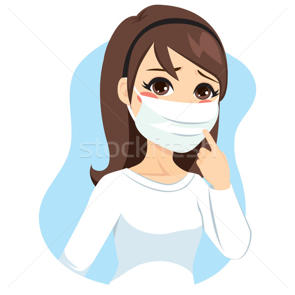 Download Mask Surgical Clipart To Prevent Flu Influenza