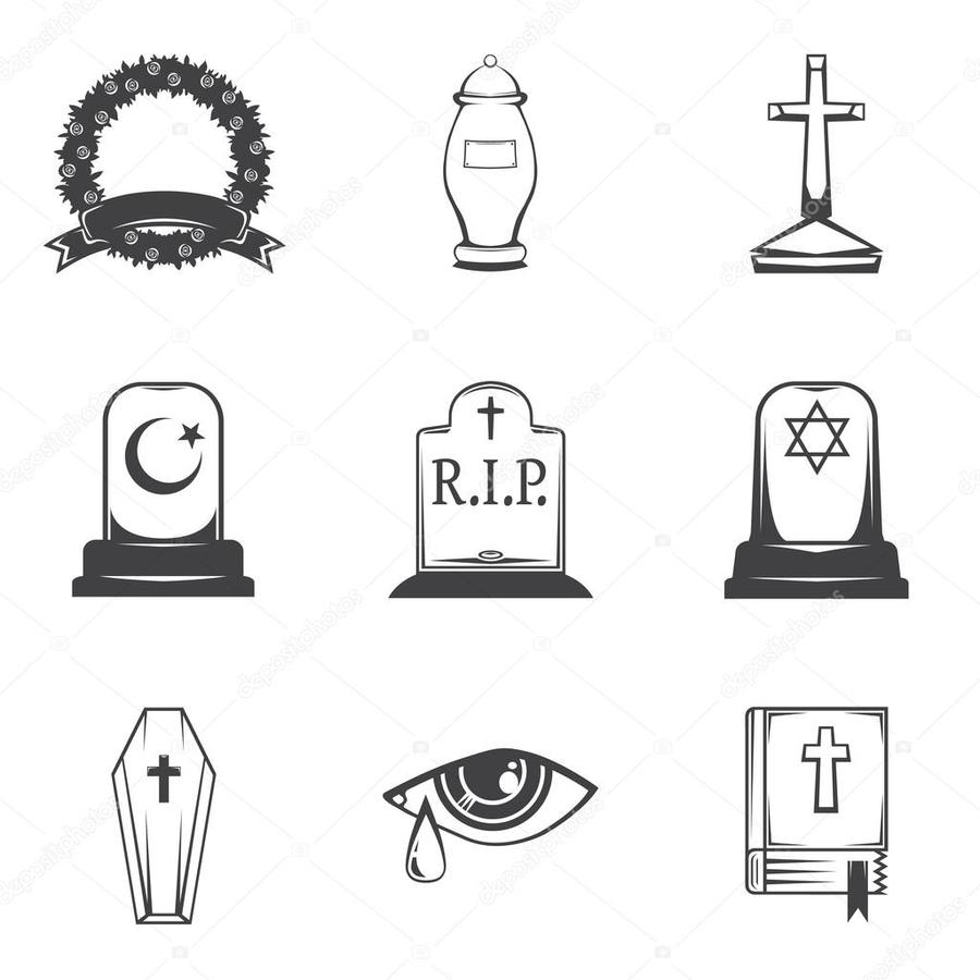 Download Symbol For Sorrow Clipart Headstone Funeral Illustration