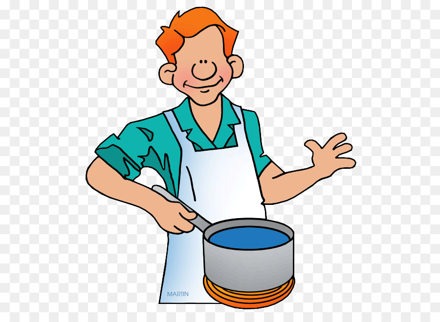 Person Cartoon Clipart Cooking Chef Illustration Transparent Clip Art