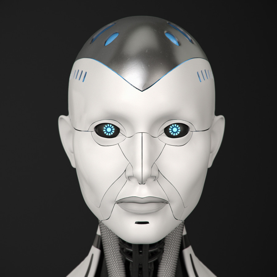 Robot Face Head Nose Technology Smile Png Clipart Free Download