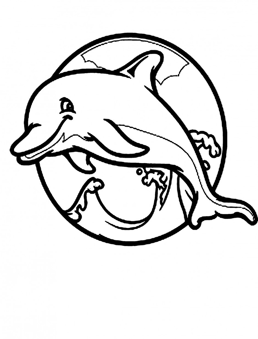 Download dolphin coloring clipart Common bottlenose dolphin Coloring ...