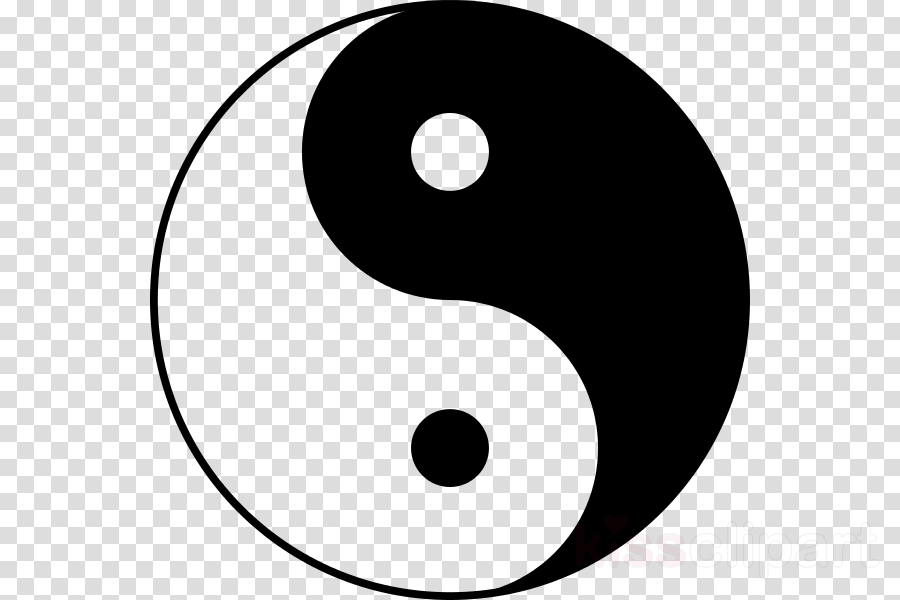Yin and yang clipart Yin and yang Black and white Steppenwolf