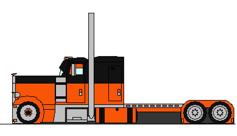 drawings of semi trucks clipart Peterbilt 379 Semi-trailer truck