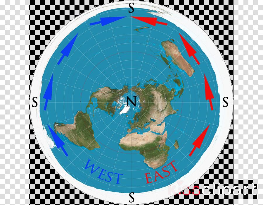 flat earth clipart Flat Earth World map