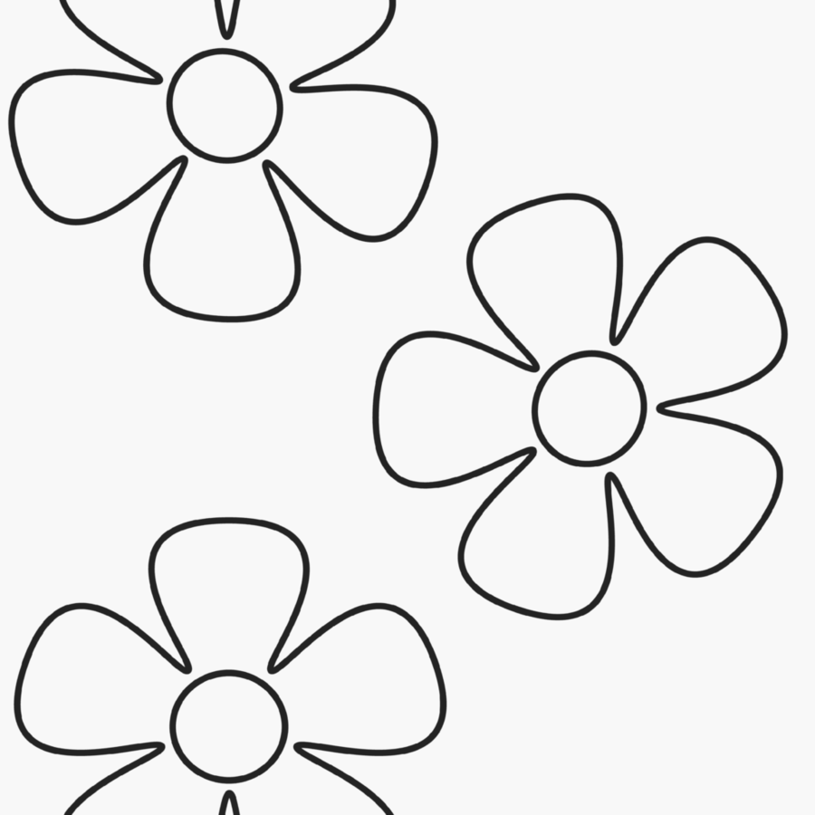 Black And White Flower clipart - Flower, Child, Color ...