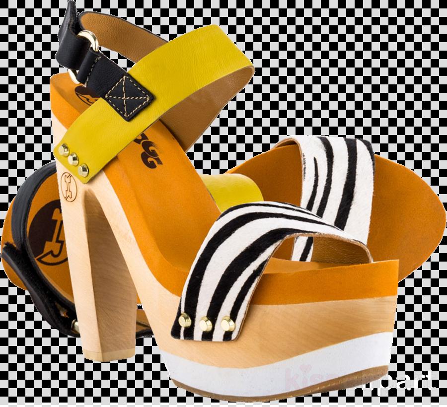 Sandal clipart Slipper Sandal High-heeled shoe