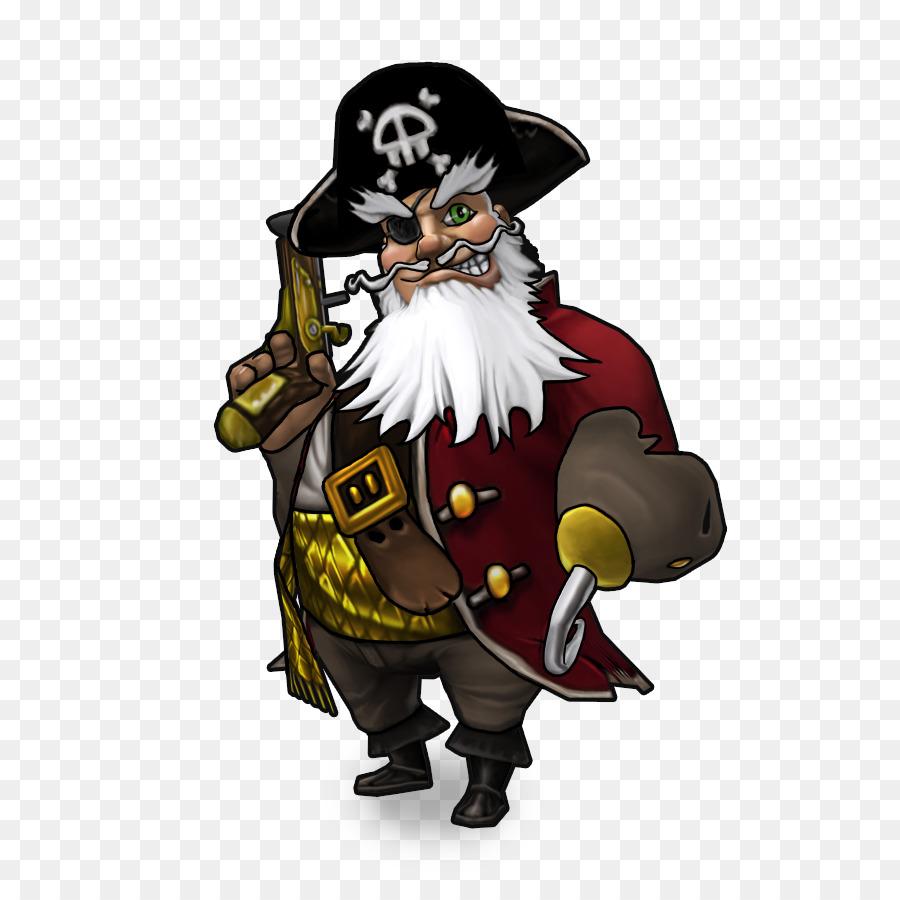 Santa Claus Cartoon clipart - Pirate, Cartoon, Illustration