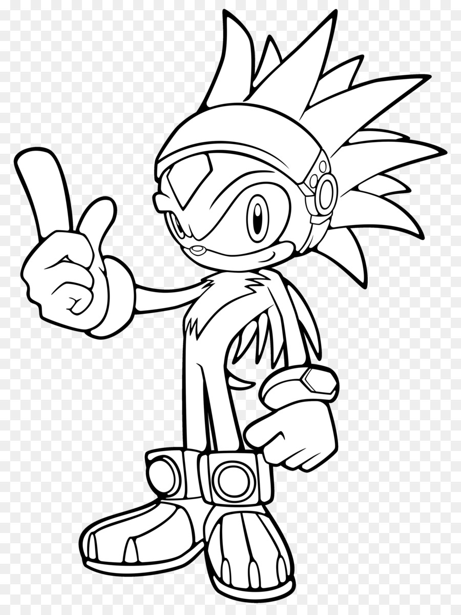 Sonic The Hedgehog Clipart Hedgehog White Black Transparent Clip Art