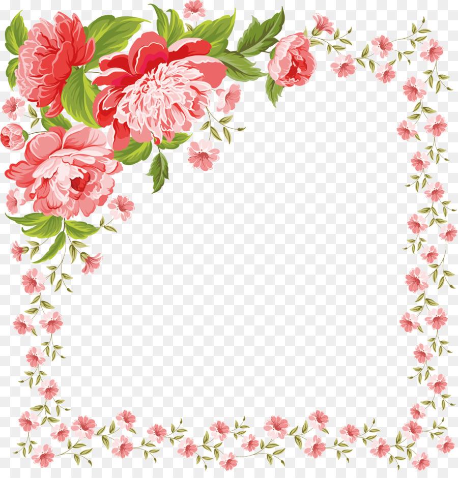 Red Floral Border
