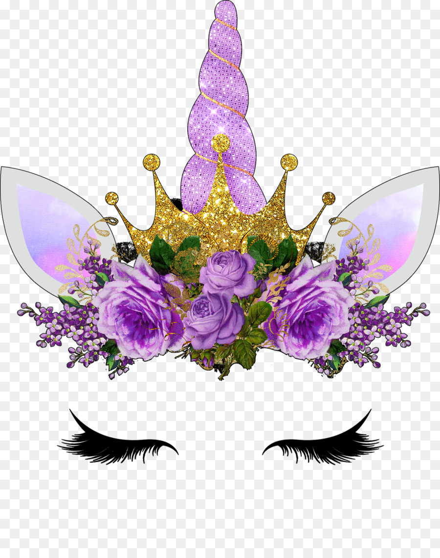 Flowers Clipart Background clipart - Unicorn, Flower, Purple