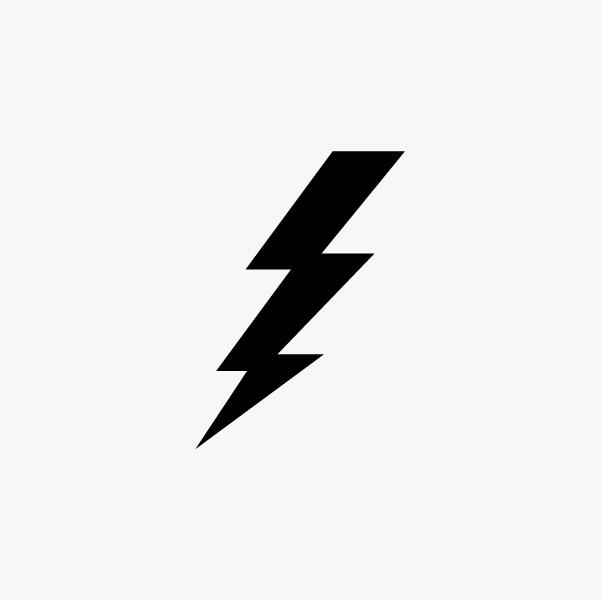 Lightning bolt black. Download clipart clip art