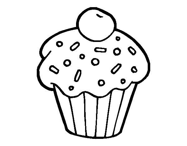 Download panque para colorear clipart Cupcake Drawing