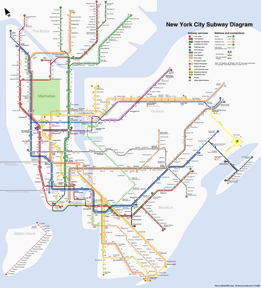 Download New York Subway Map Clipart Manhattan New York City Subway