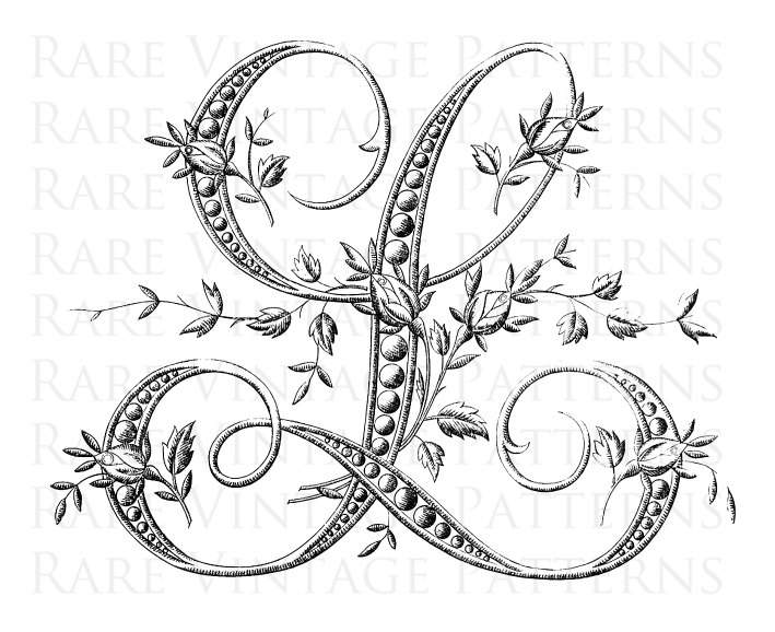 download fancy letter l designs clipart letter stencil