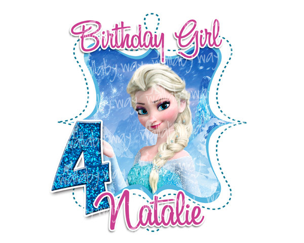 Free Download Frozen Birthday Shirts Clipart Elsa T Shirt Clip Art It Comes With Full Background Resolution Of 600480