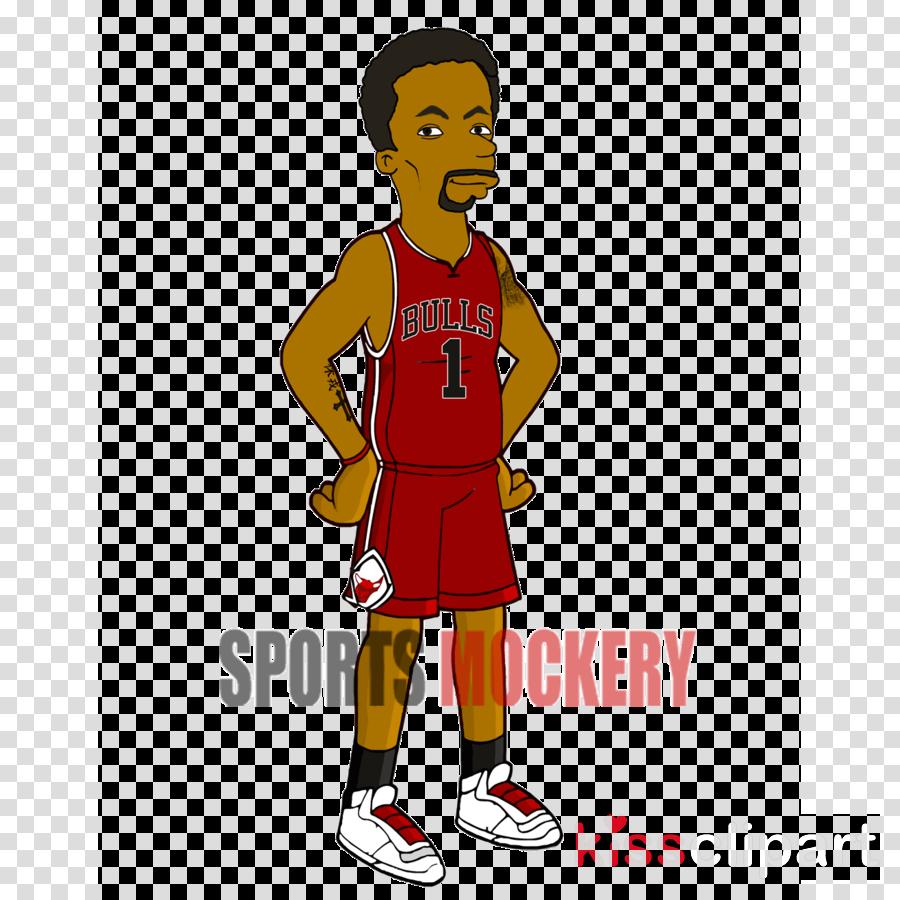 5708d1d1e1c simpsons derrick rose clipart Derrick Rose Chicago Bulls Clip art