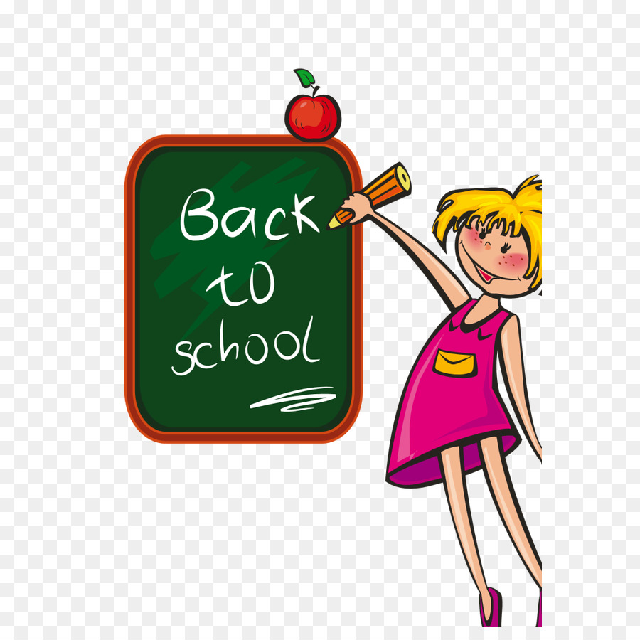 Book back. To school text clipart