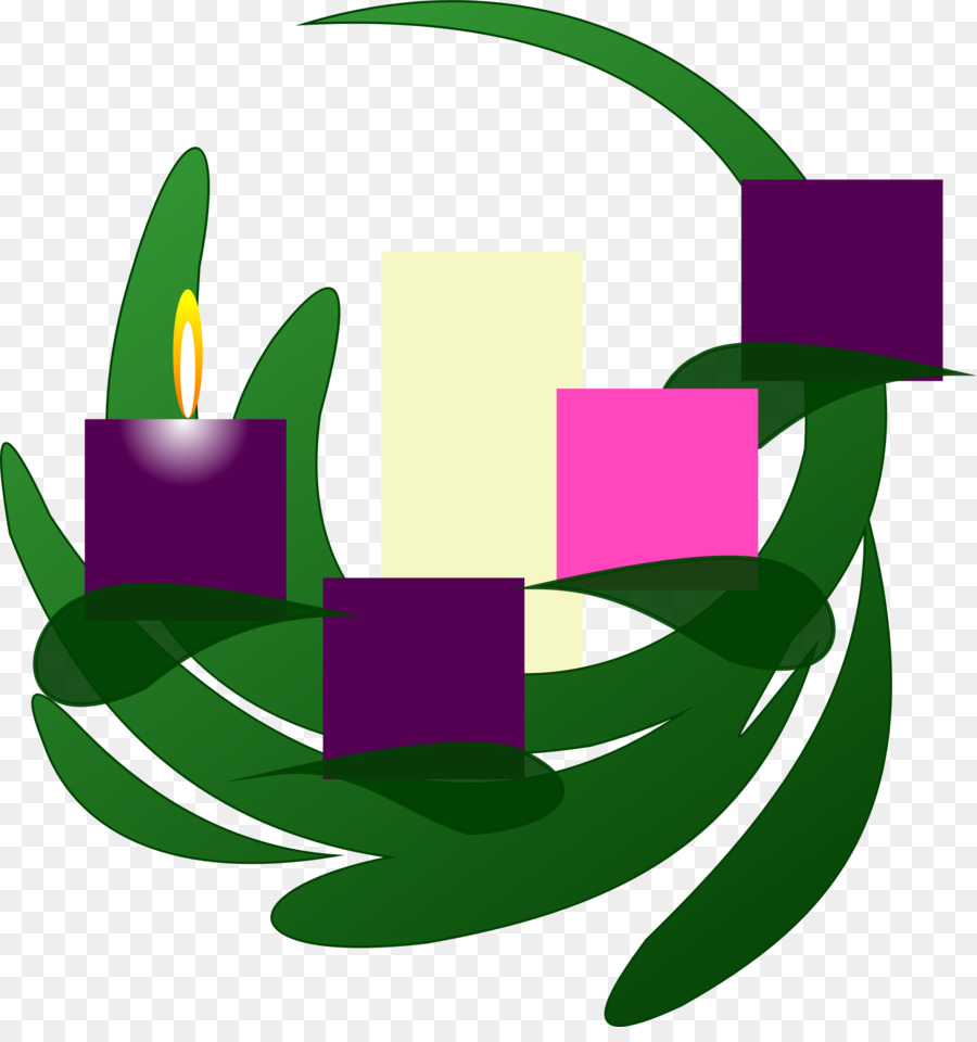 Advent sunday. Purple flower wreath clipart