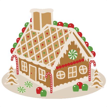 Christmas Gingerbread House Cartoon.Christmas Decoration Cartoon Clipart Food Dessert