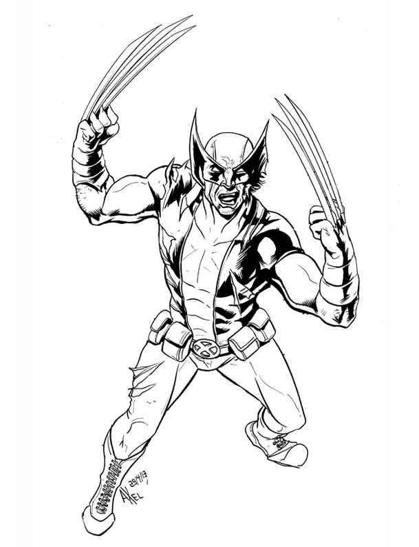 Download wolverine caricatura para colorear clipart Wolverine Doctor ...