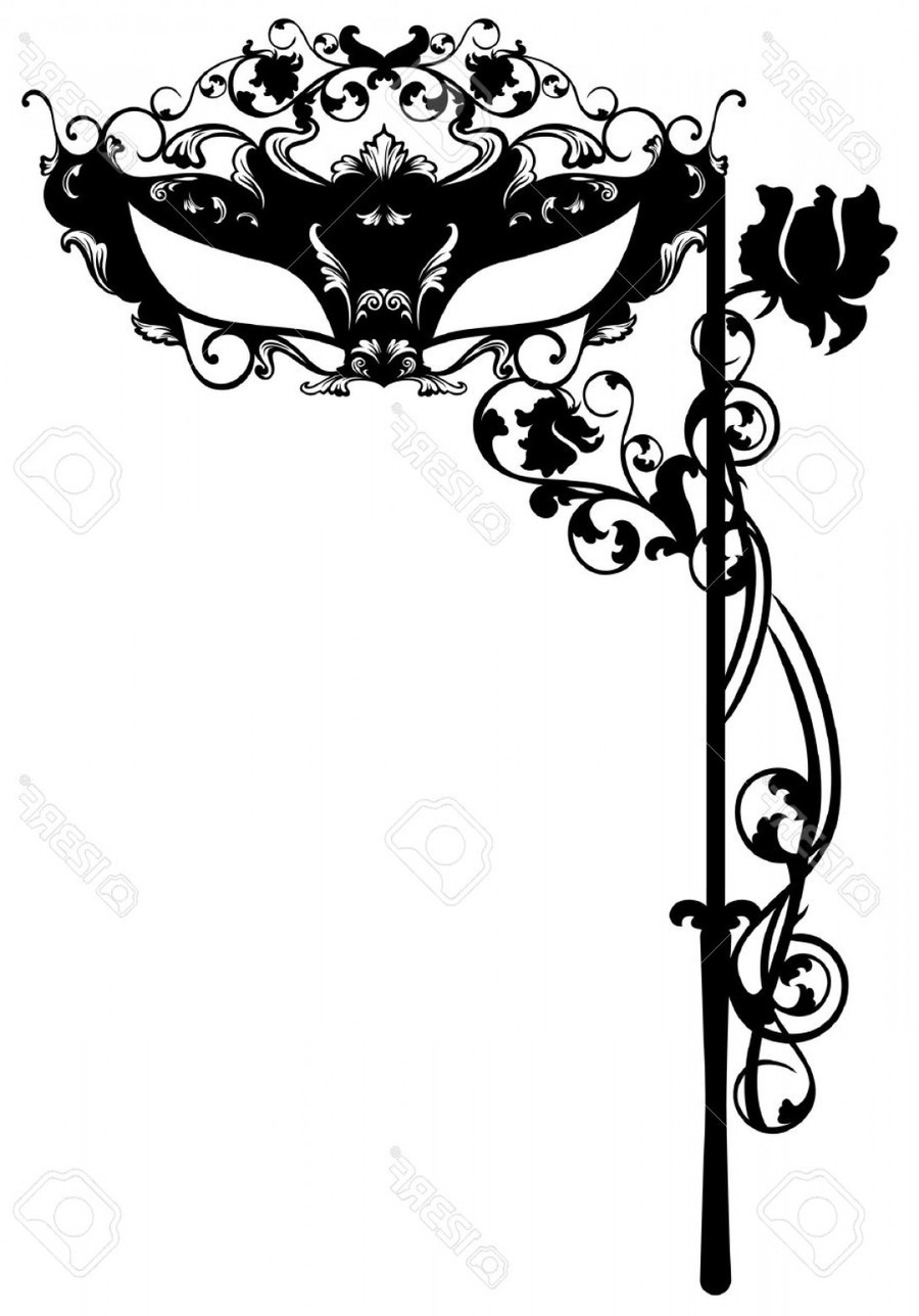 mask ball illustration carnival silhouette font tree pattern