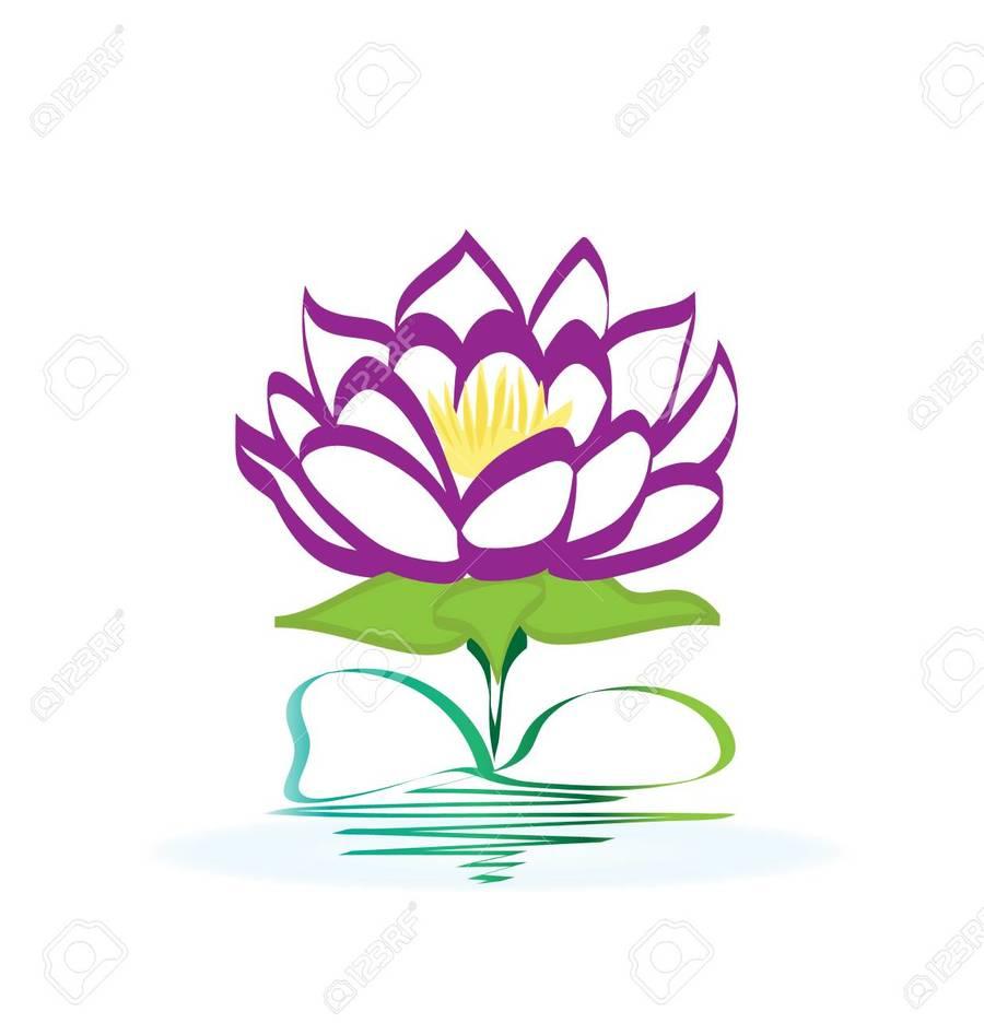 Download Lotus Flower Logo On Water Clipart Sacred Lotus Clip Art