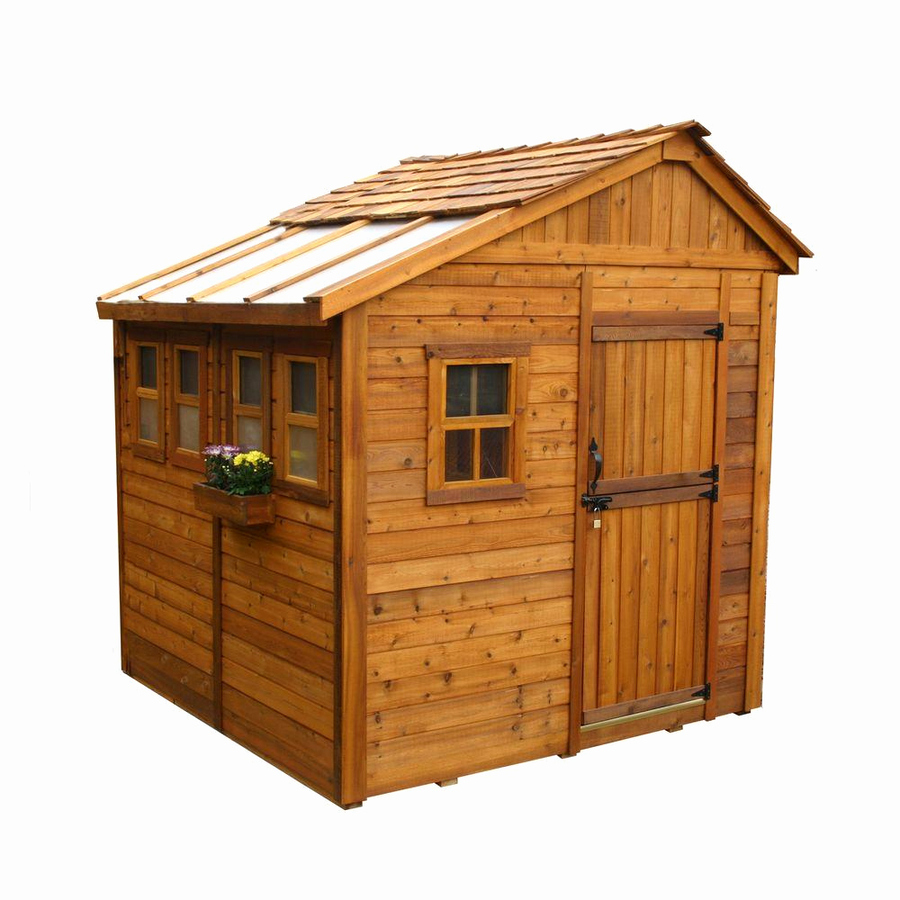 Download outdoor living today 8 ft. x 8 ft. sunshed garden shed ...